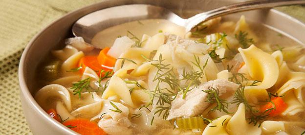 chicken soup eat sick